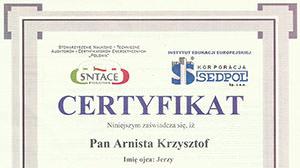Certyfikat #1